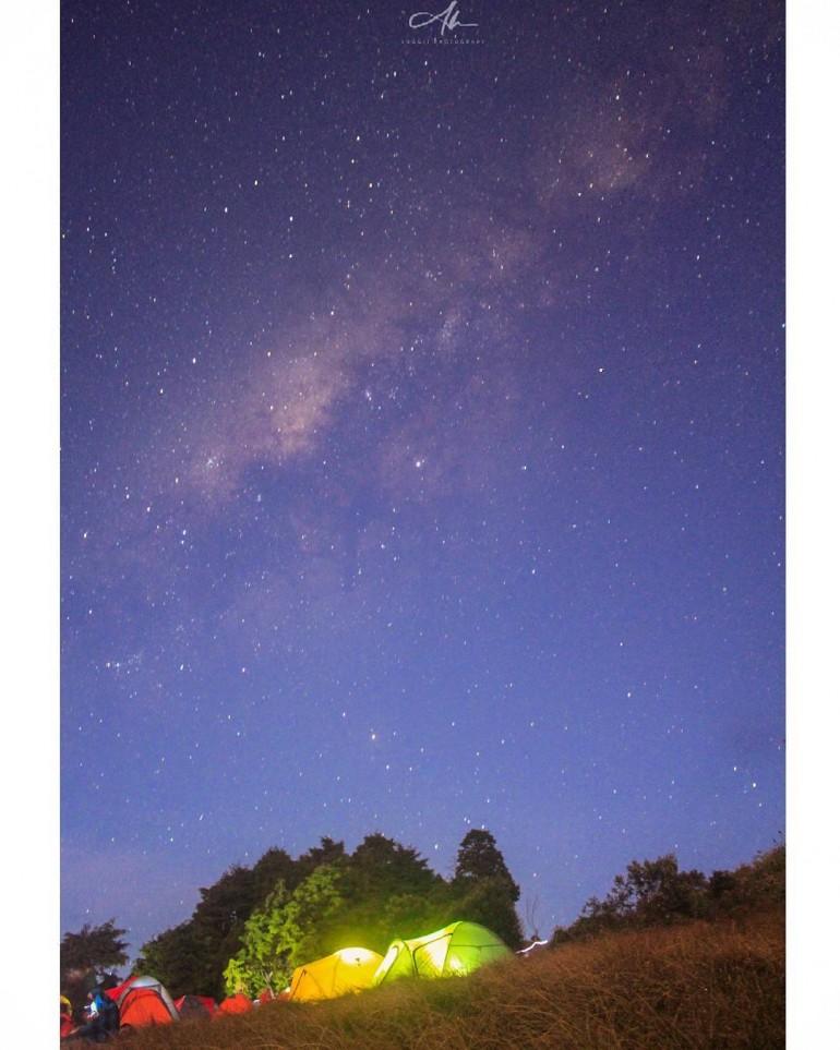 Gunung Prau Dieng, Telaga Cebong atau Bukit Pangonan. Tiga camping Ground asik di Dieng